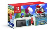 Nintendo Switch, crveno - plavi + New Super Mario Bros. U Deluxe (novo)