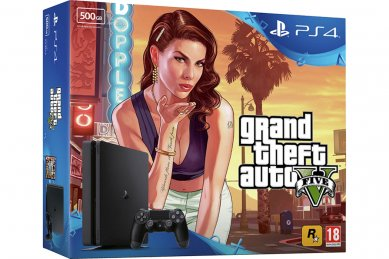 PlayStation 4 Slim 500GB + GTA 5 (PS4 Slim - novo)